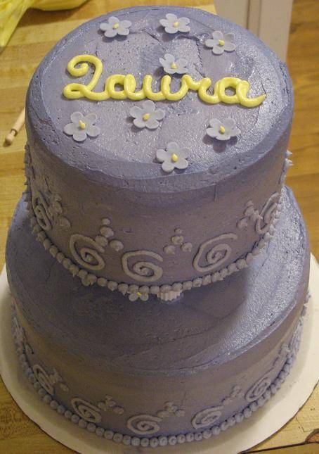 Happy birthday Laura! Happy birthday Laura! Violet Cake (2 of 2)