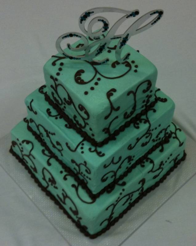 this cake is not really brown and blue it 39s brown and TURQUOISE